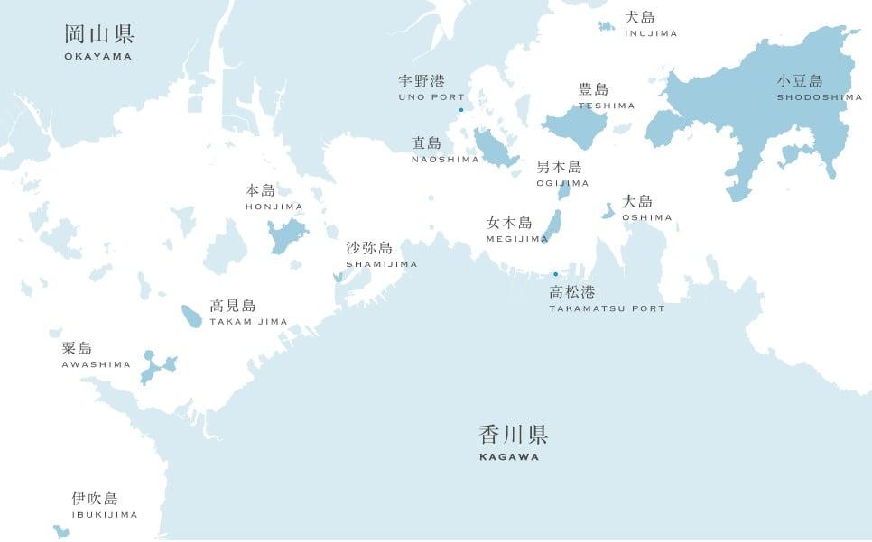瀨戶內海藝術祭全會場圖