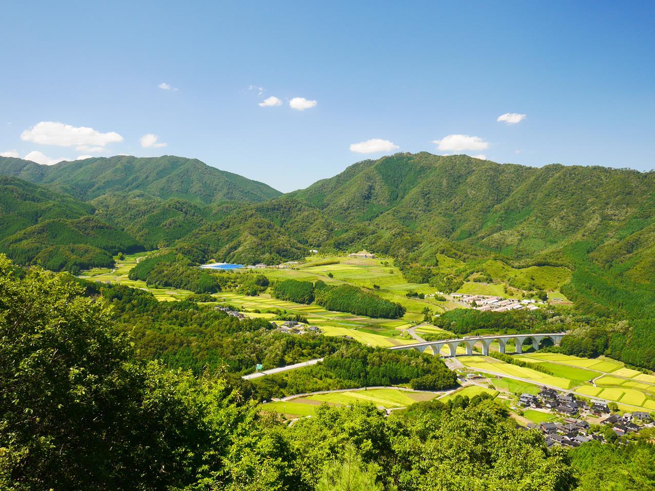 竹田城跡眺望景色