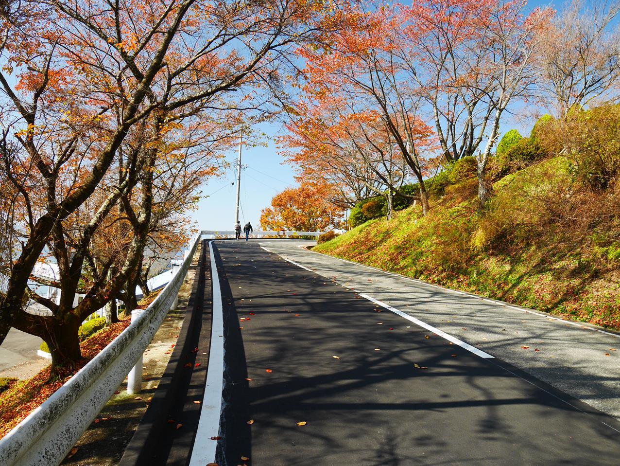 往諏訪湖立石公園