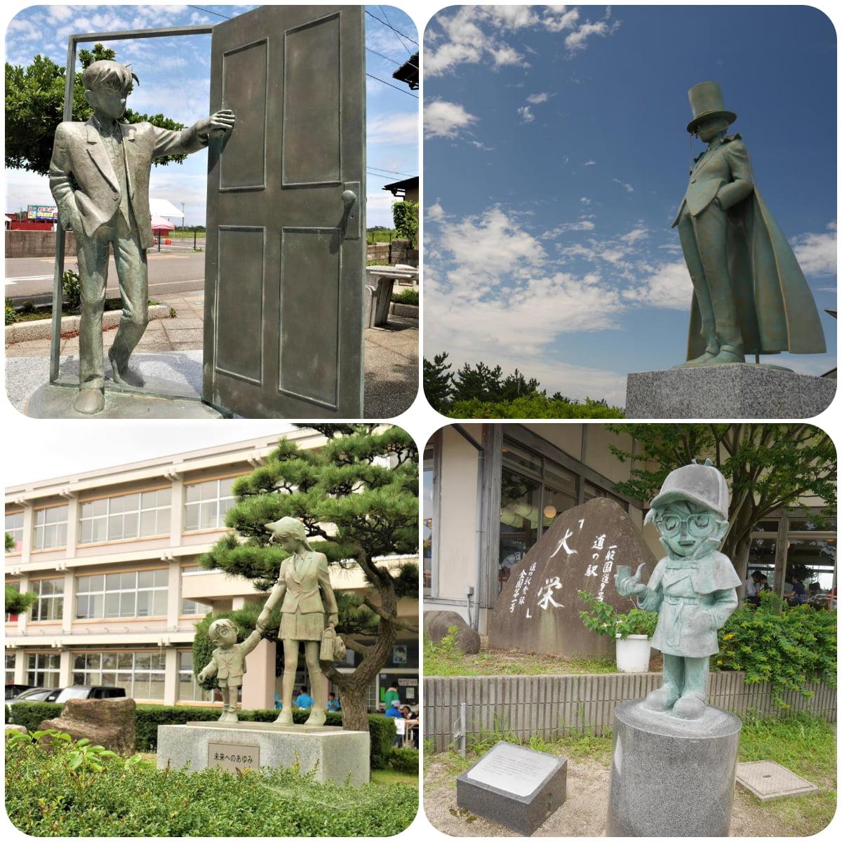 柯南小鎮中各處的雕像