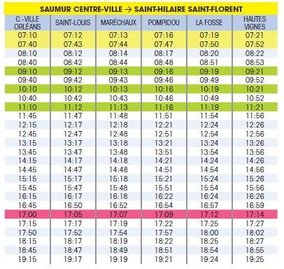 索米爾(Saumur)31號公車時刻表
