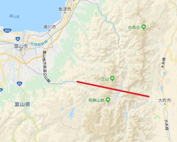 日本阿爾卑斯路線