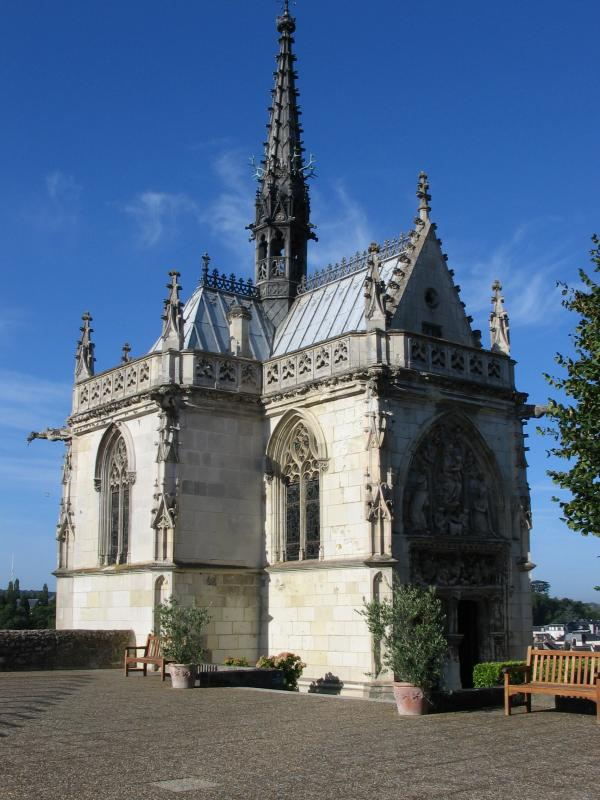 昂布瓦斯(Amboise)城堡Chapel of St.Hubert教堂達文西墓