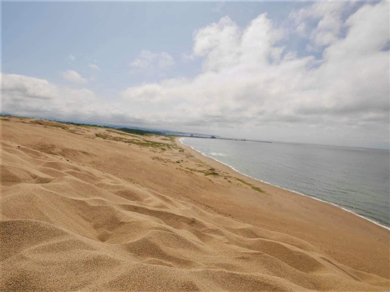 鳥取砂丘馬背另一側海岸