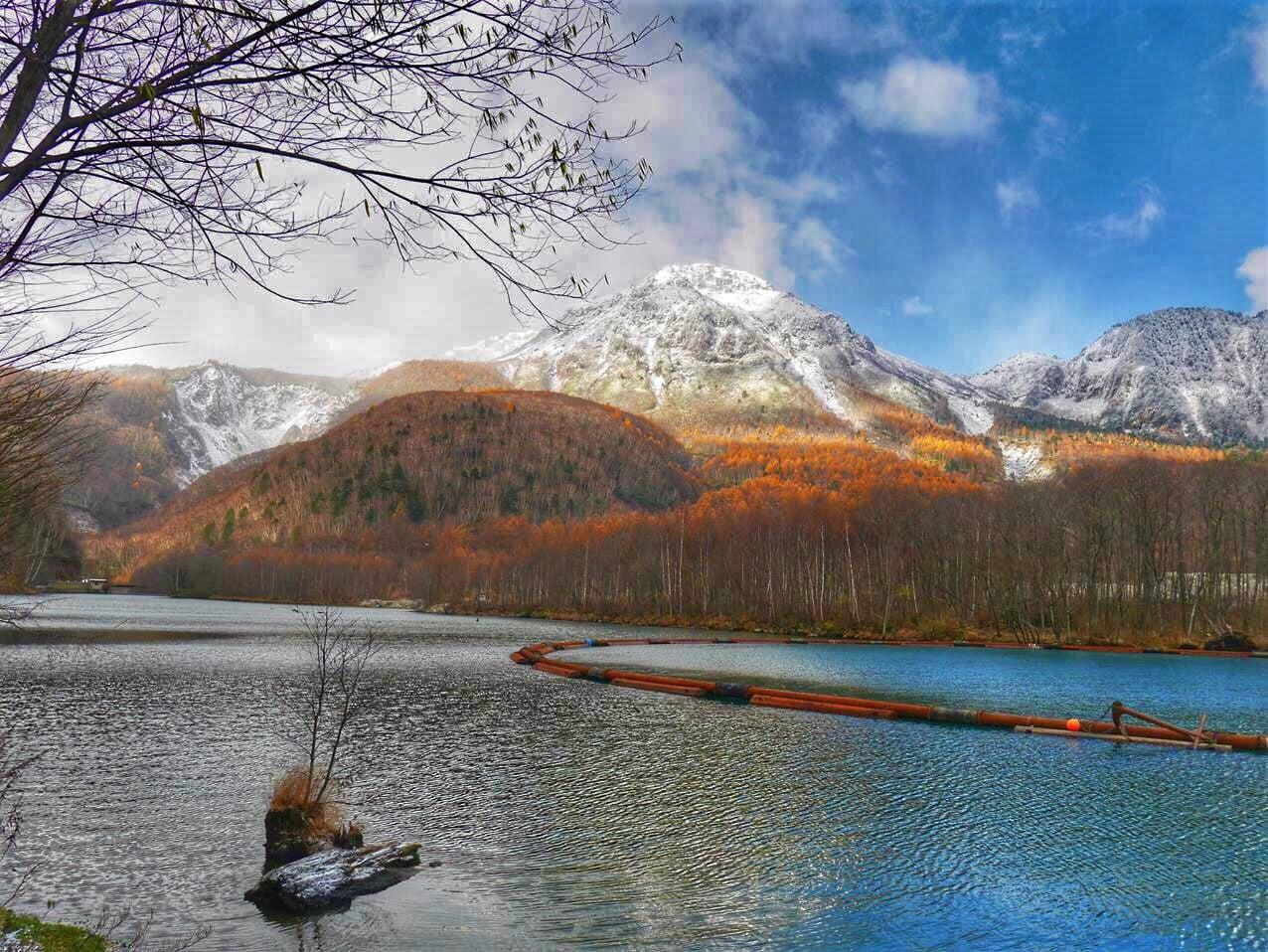 上高地景點大正池及燒岳