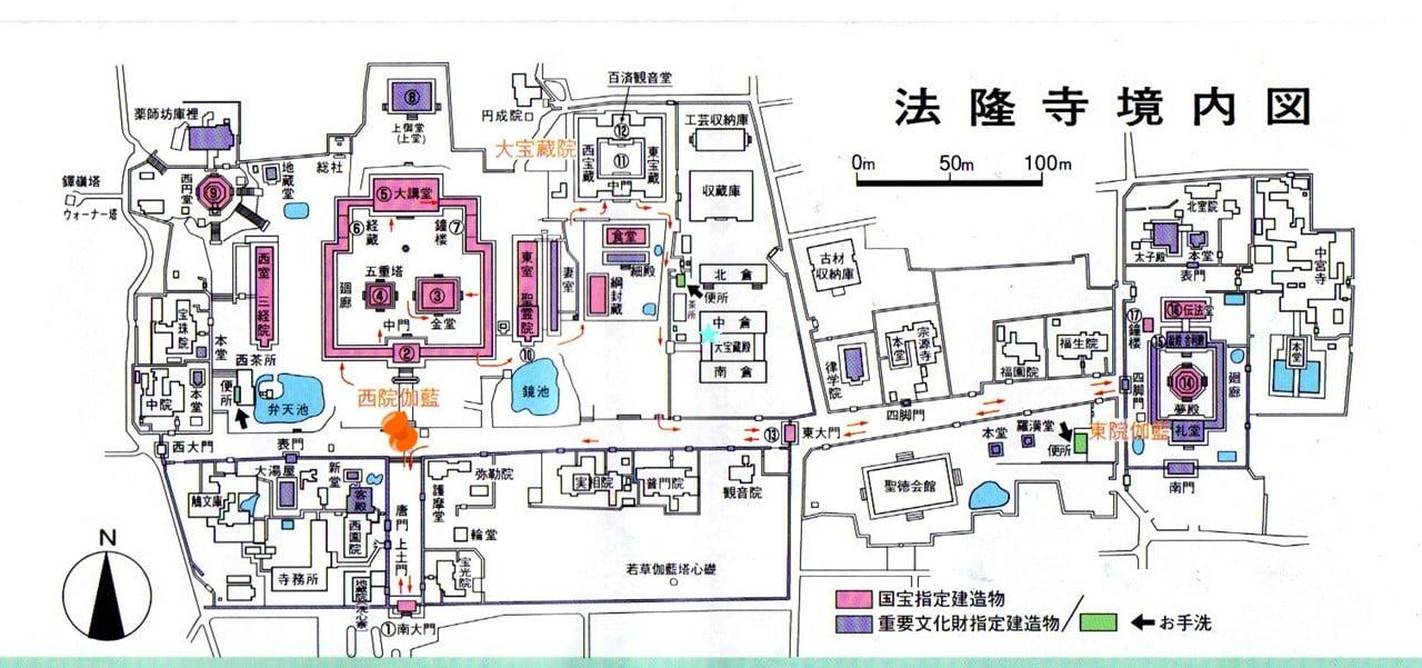 法隆寺地圖