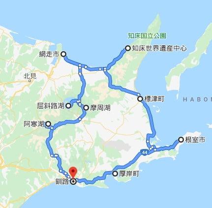 北海道自駕行程路線