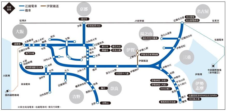 近鐵電車周遊券( Kintetsu Rail Pass)