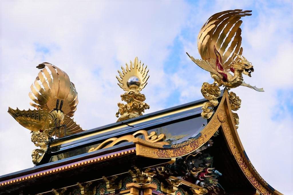 高山祭屋台車裝飾