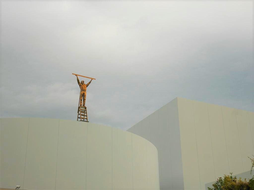 金澤21世紀美術館測量雲的男人