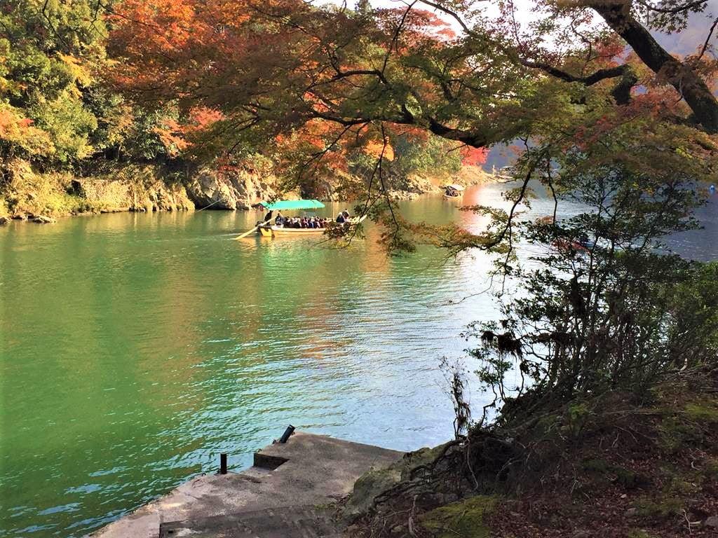 京都嵐山楓葉