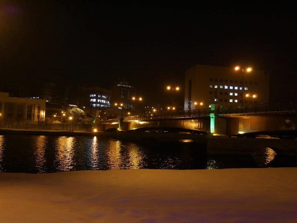 釧路幣舞橋夜景
