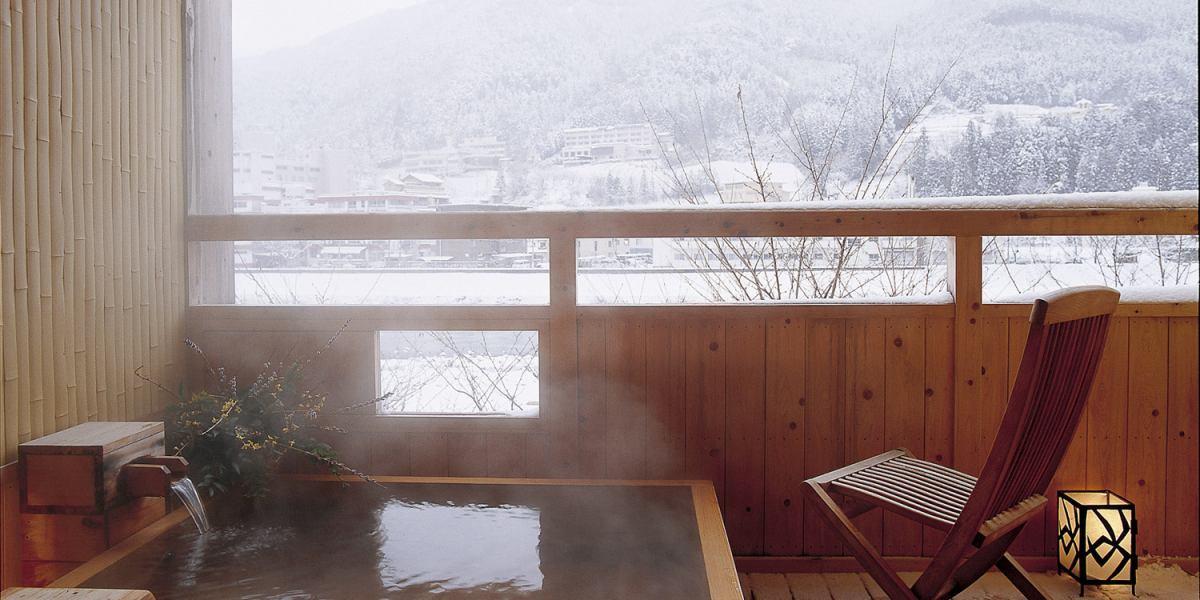 山形屋貸切風呂花舞冬景