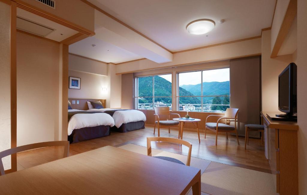 水明館飛泉閣和洋式雙人床房