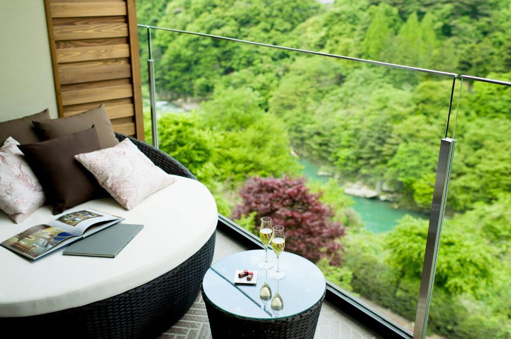 鬼怒川金谷飯店高級和室陽台