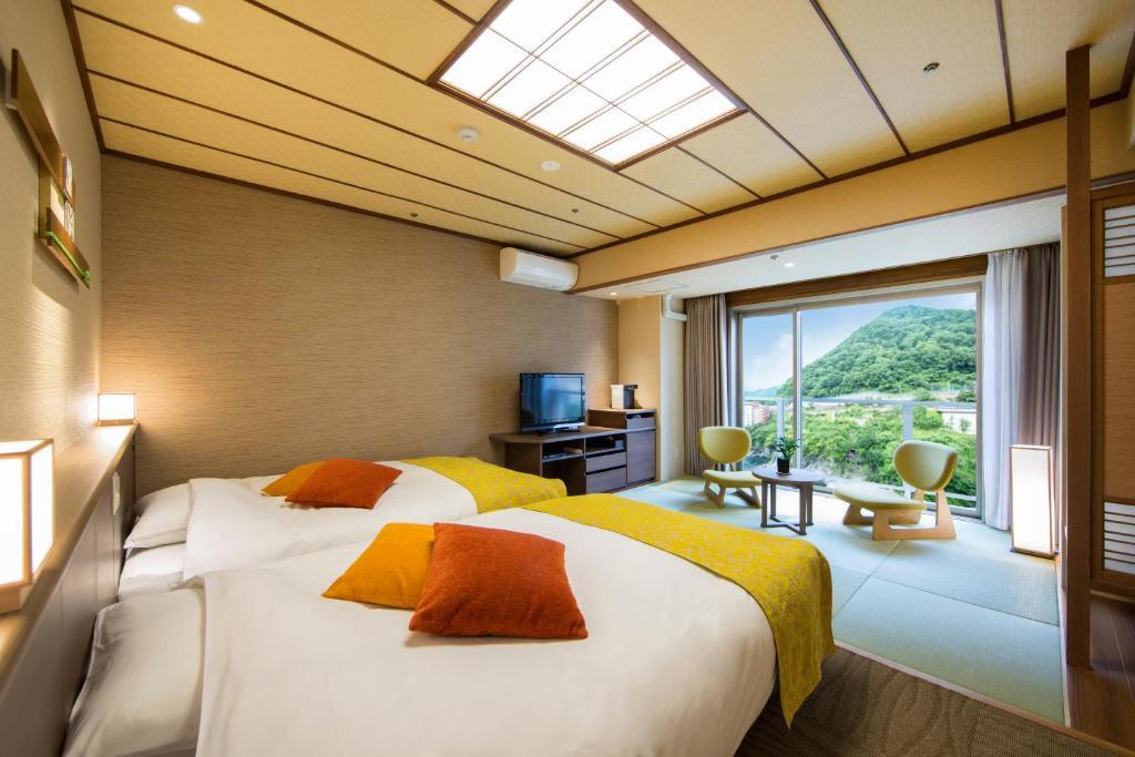 鬼怒川溫泉飯店和洋雙床房