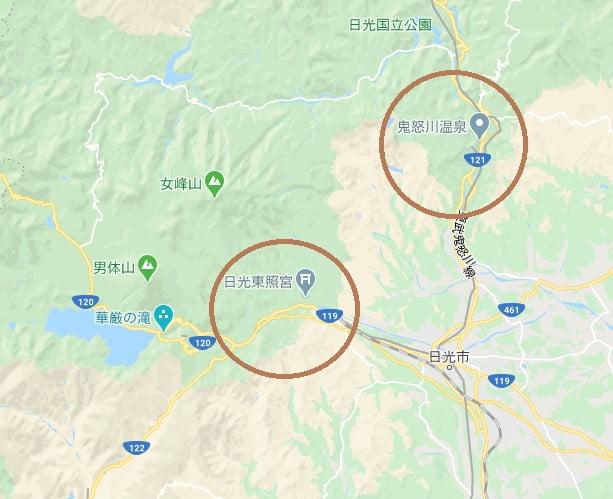 鬼怒川溫泉位置