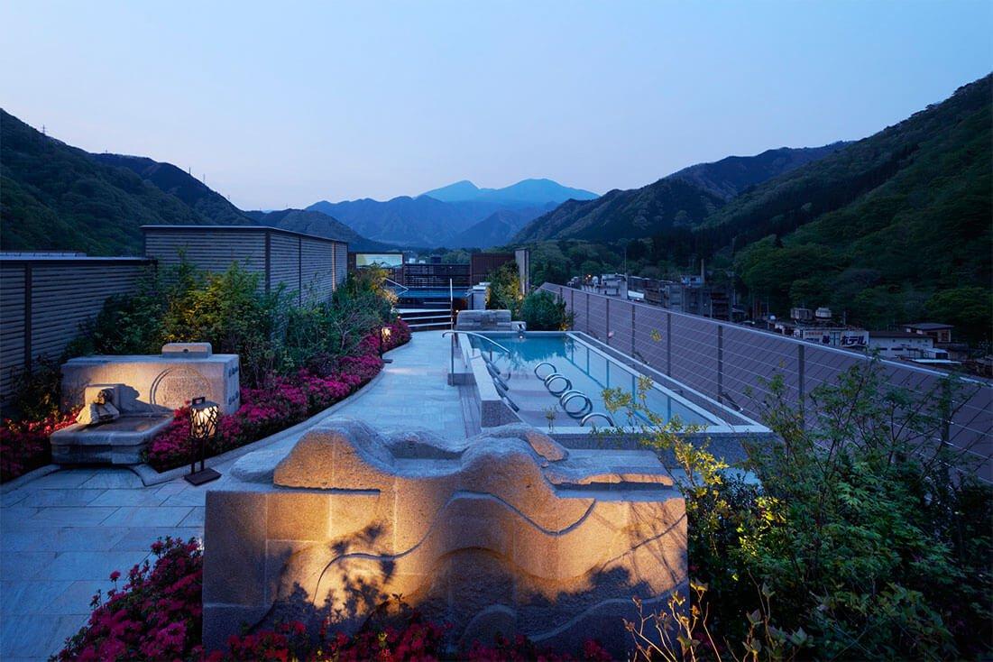 鬼怒川Asaya飯店空中庭園風呂風呂