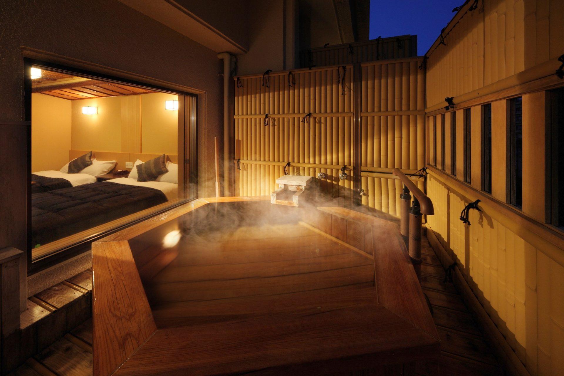 鬼怒川Asaya飯店和洋室露天風呂