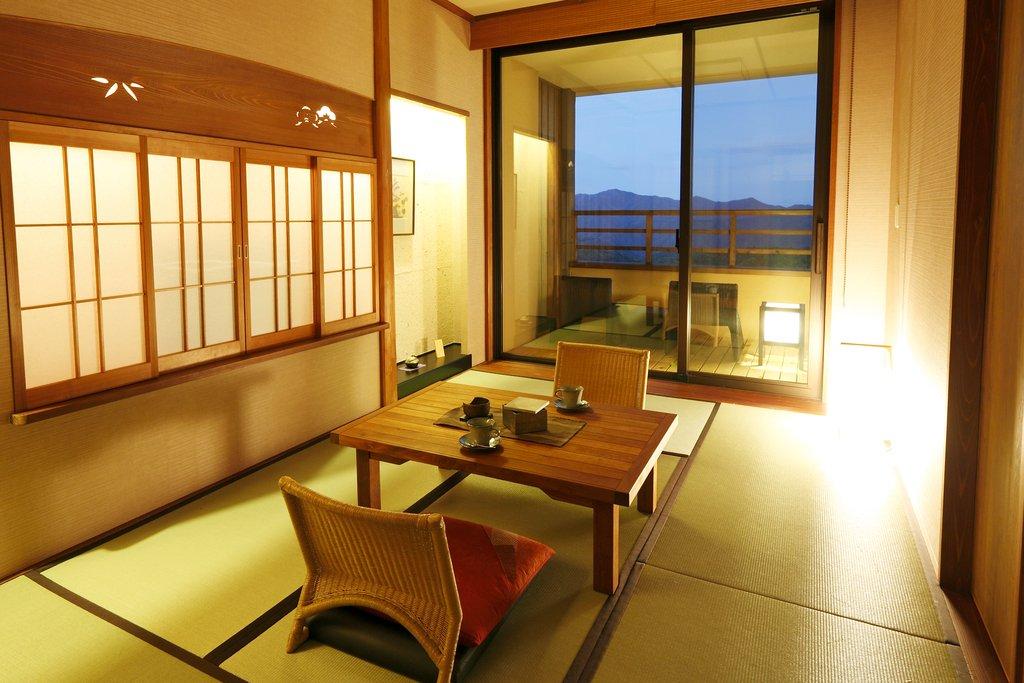 草津住宿季之庭和洋室附露天風呂