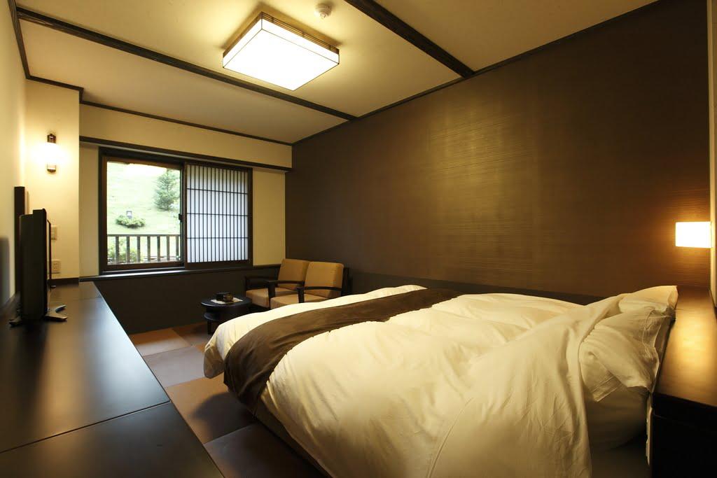 草津溫泉木之葉和洋室雙人床房