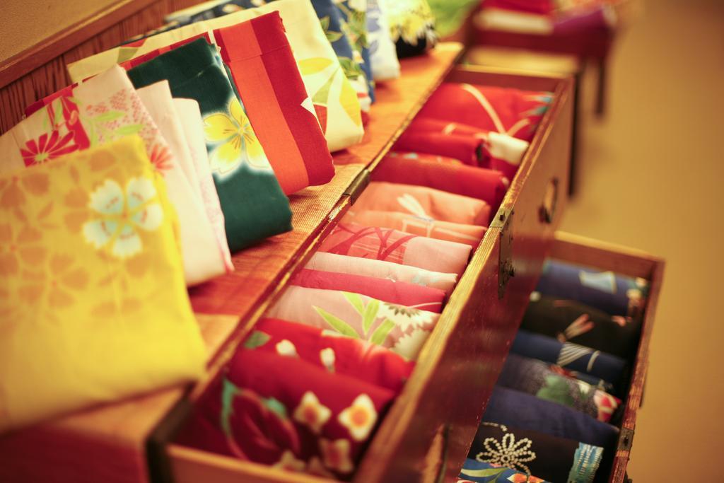 城崎溫泉樁(Tubaki)旅館多色浴衣