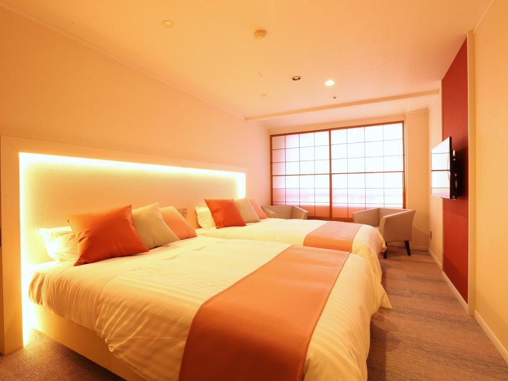 草津櫻井飯店好萊屋式雙床房