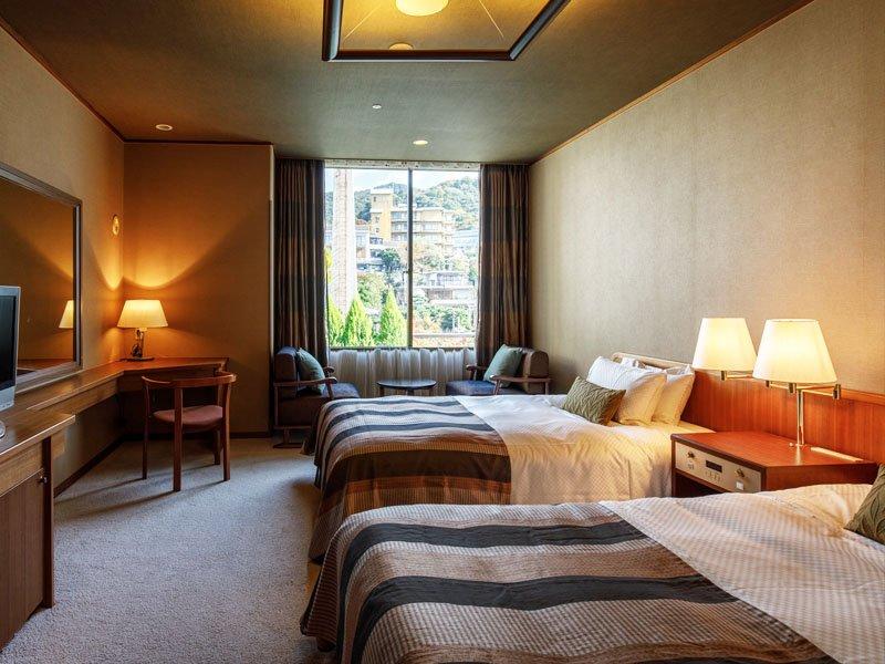 有馬溫泉中之坊瑞苑洋室雙床房