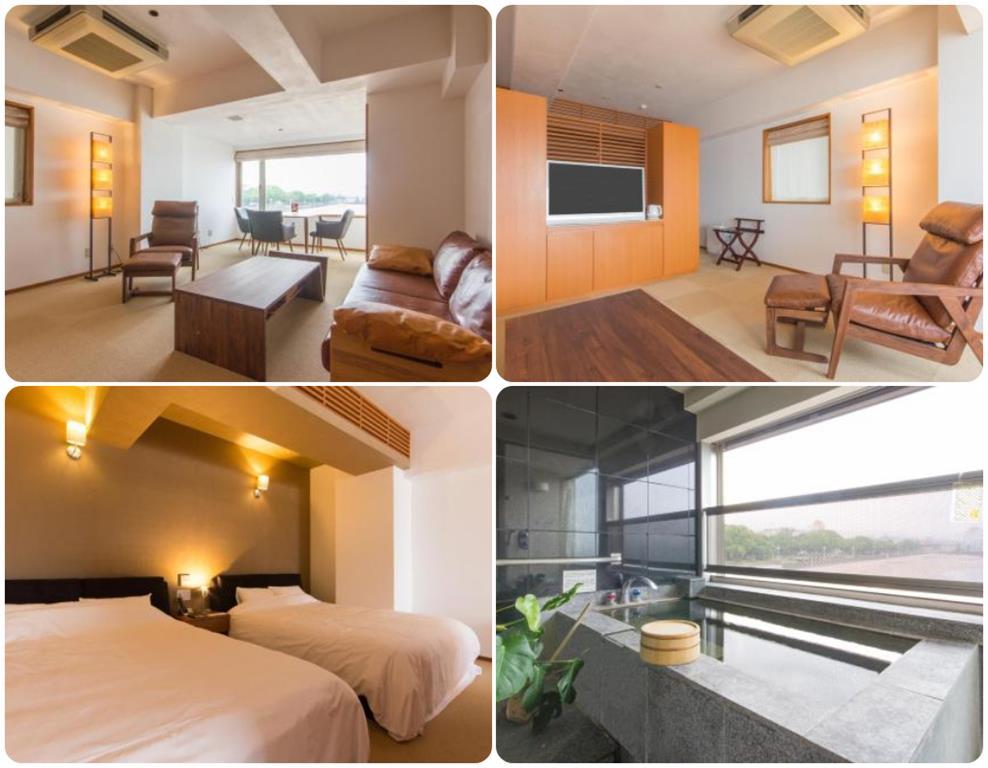 別府溫泉Umine飯店2樓雙床房