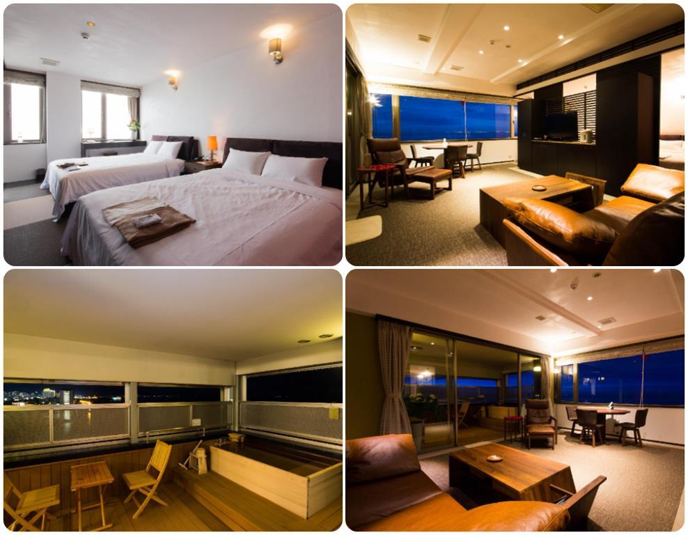 別府溫泉Umine飯店最上層邊間洋室