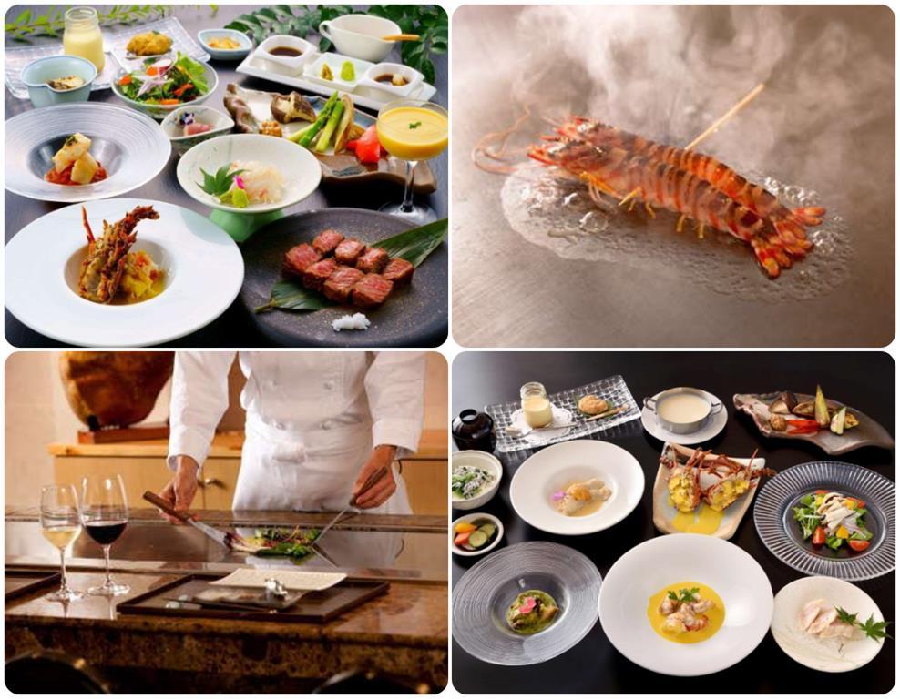 別府溫泉Umine飯店鐵板燒料理