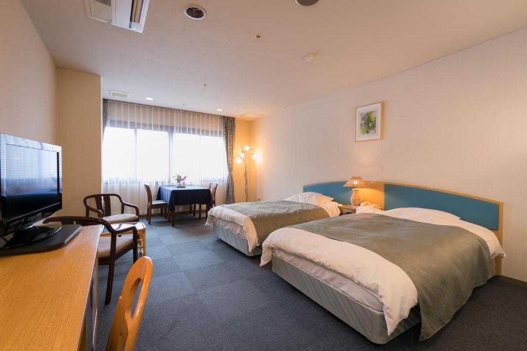 別府溫泉鬼山飯店洋室雙床房