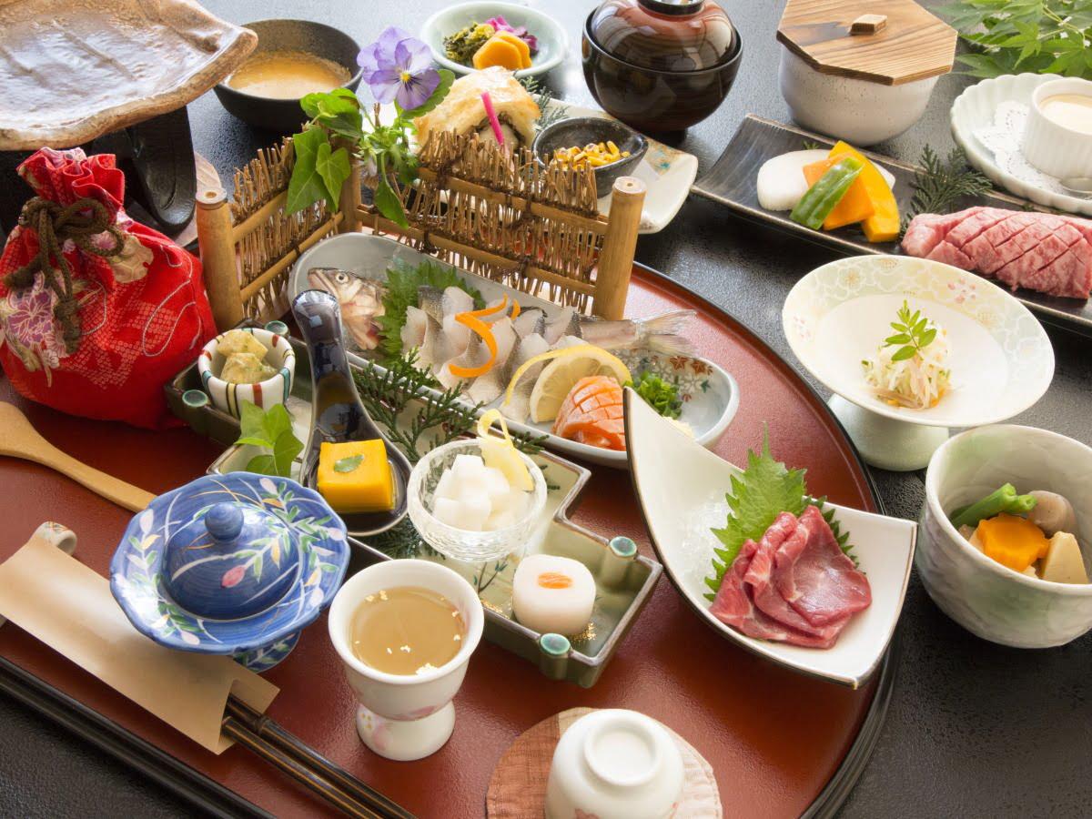 黑川溫泉壹之井旅館晚餐料理