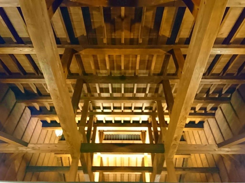 黑川溫泉壹之井旅館內湯屋樑