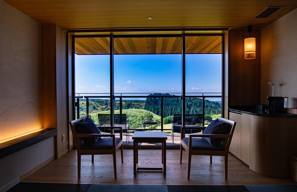 黑川溫泉瀨之本高原飯店房間景觀