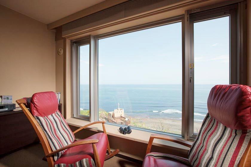 登別古川飯店和室窗景