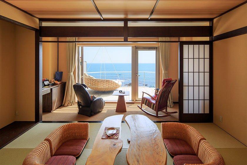 登別古川飯店和室附陽台房