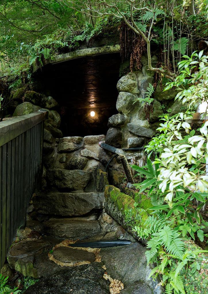 黑川溫泉奧之湯旅館混浴洞窟風呂