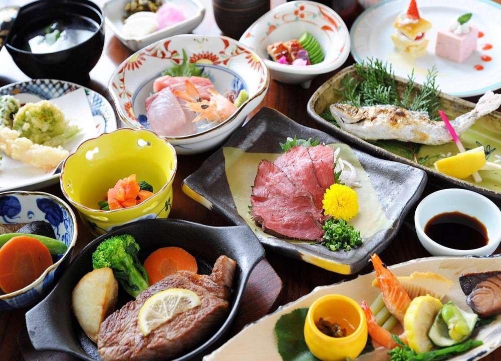 黑川溫泉奧之湯旅館晚餐料理