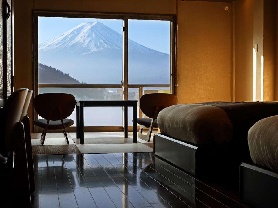 富士河口湖住宿富士吟景房間景