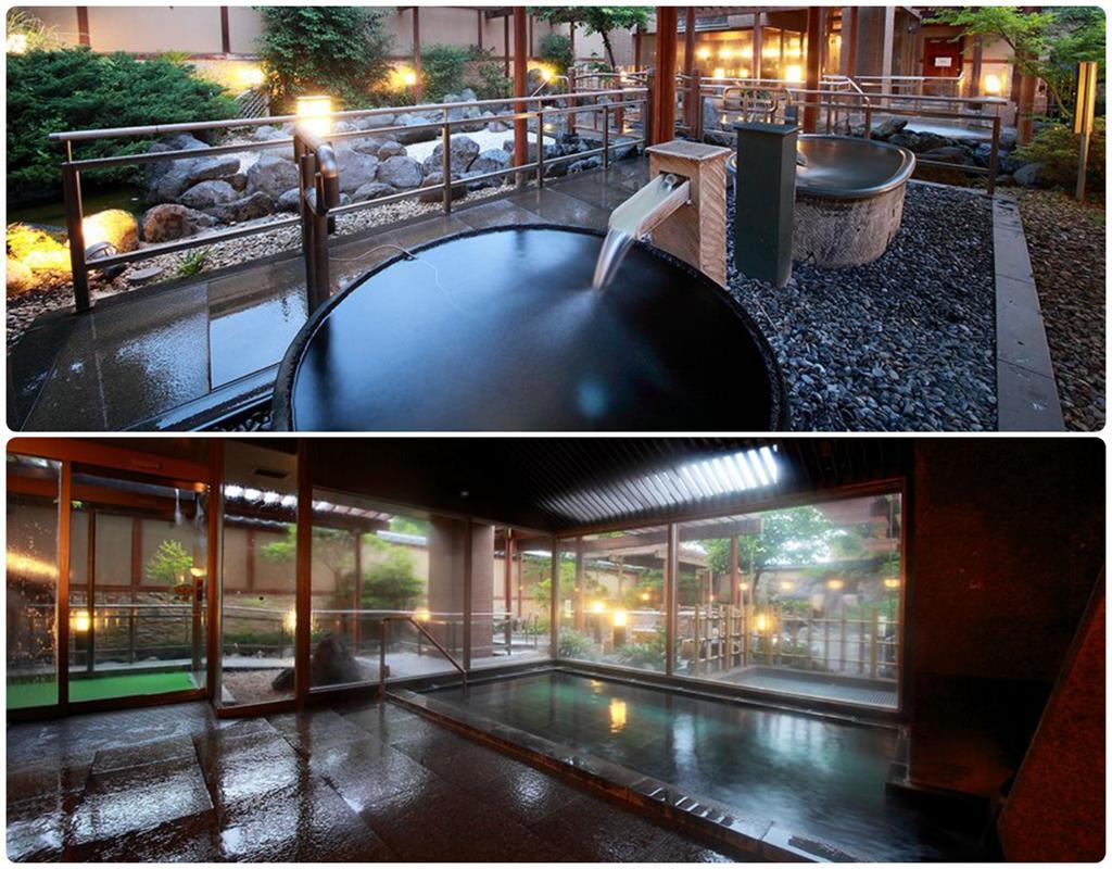 河口湖大池飯店庭園露天風呂