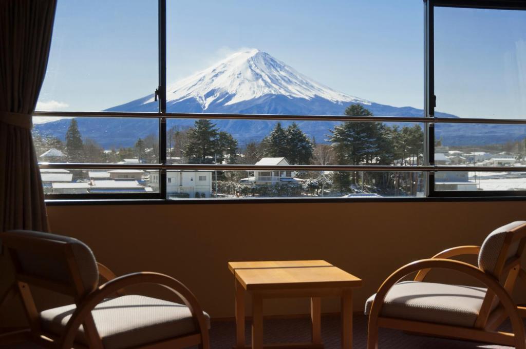 河口湖大池飯店一般和室富士山景