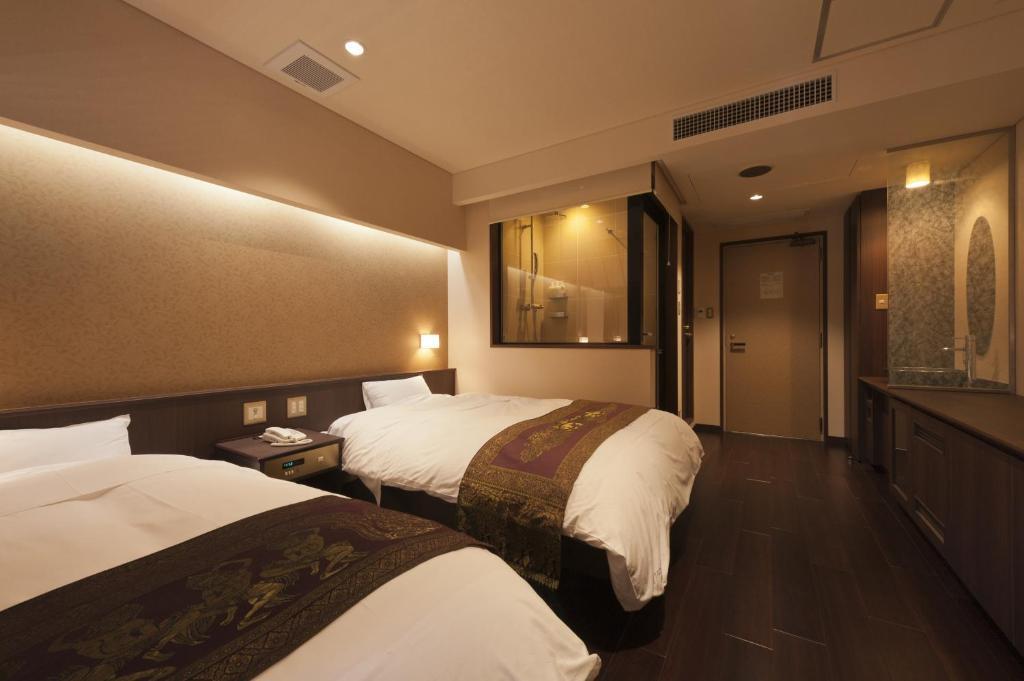 河口湖大池飯店洋室雙床房
