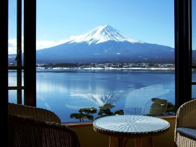 富士河口湖飯店湖月房間景色