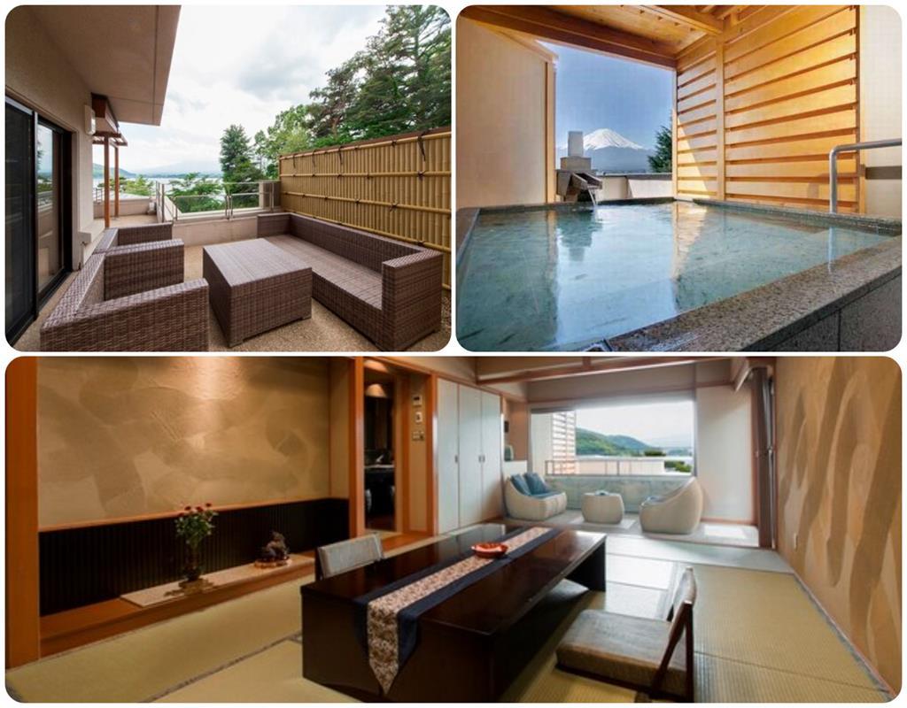 河口湖湖月飯店和室附露天風呂