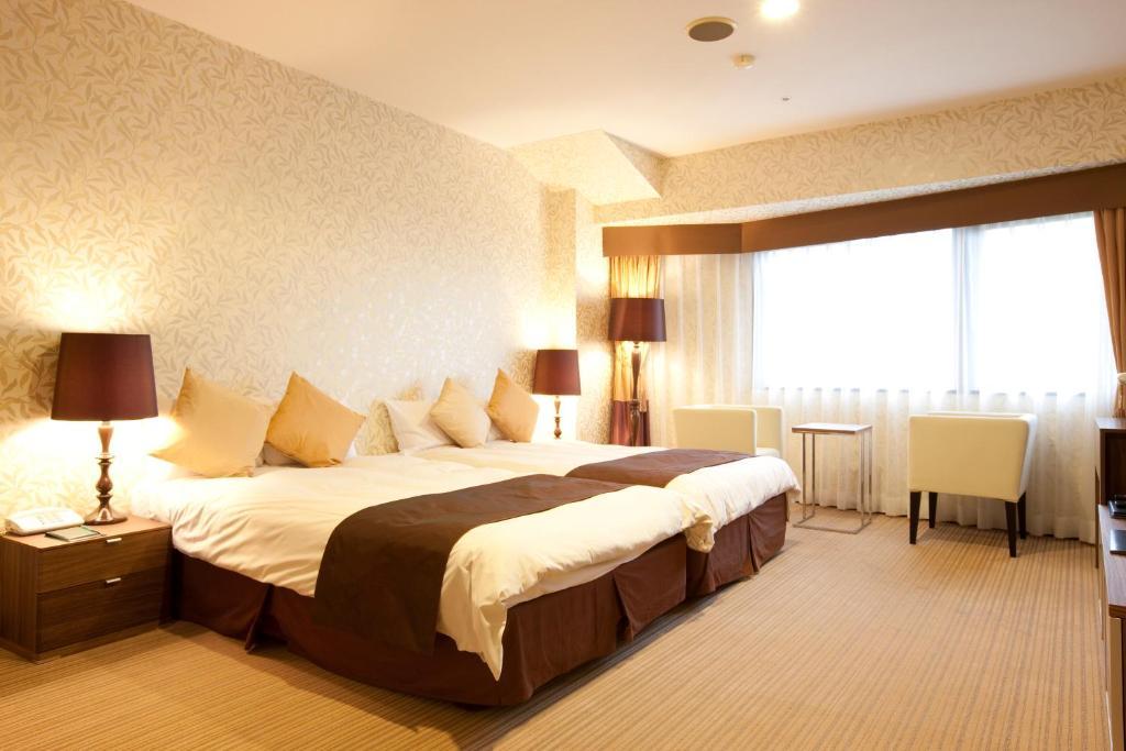 箱根溫泉綠色廣場飯店高級雙床房