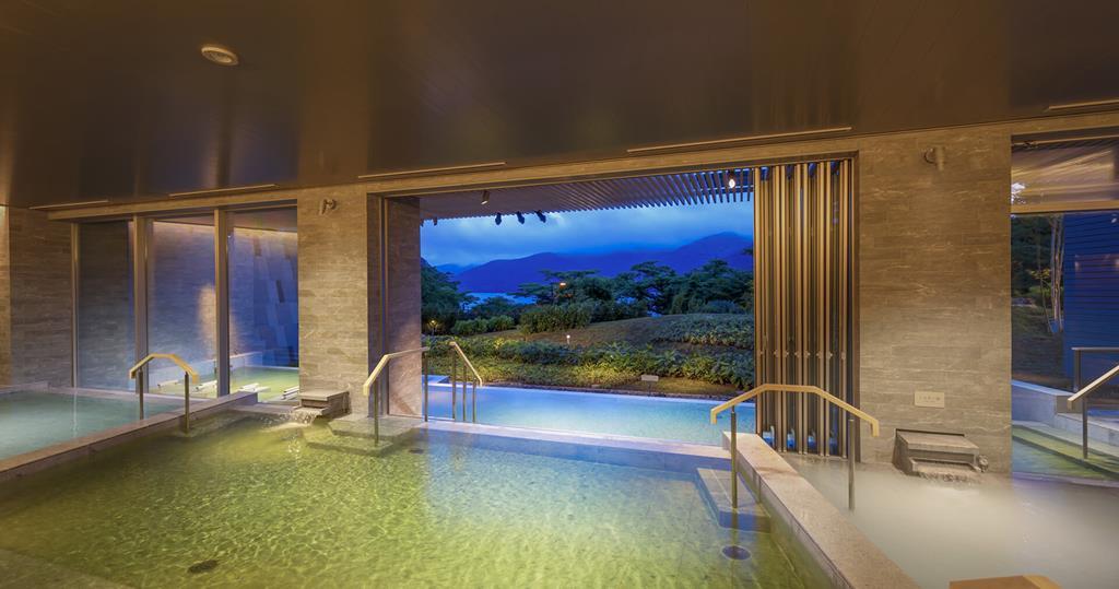 箱根溫泉花織飯店棚湯蘆之湖側