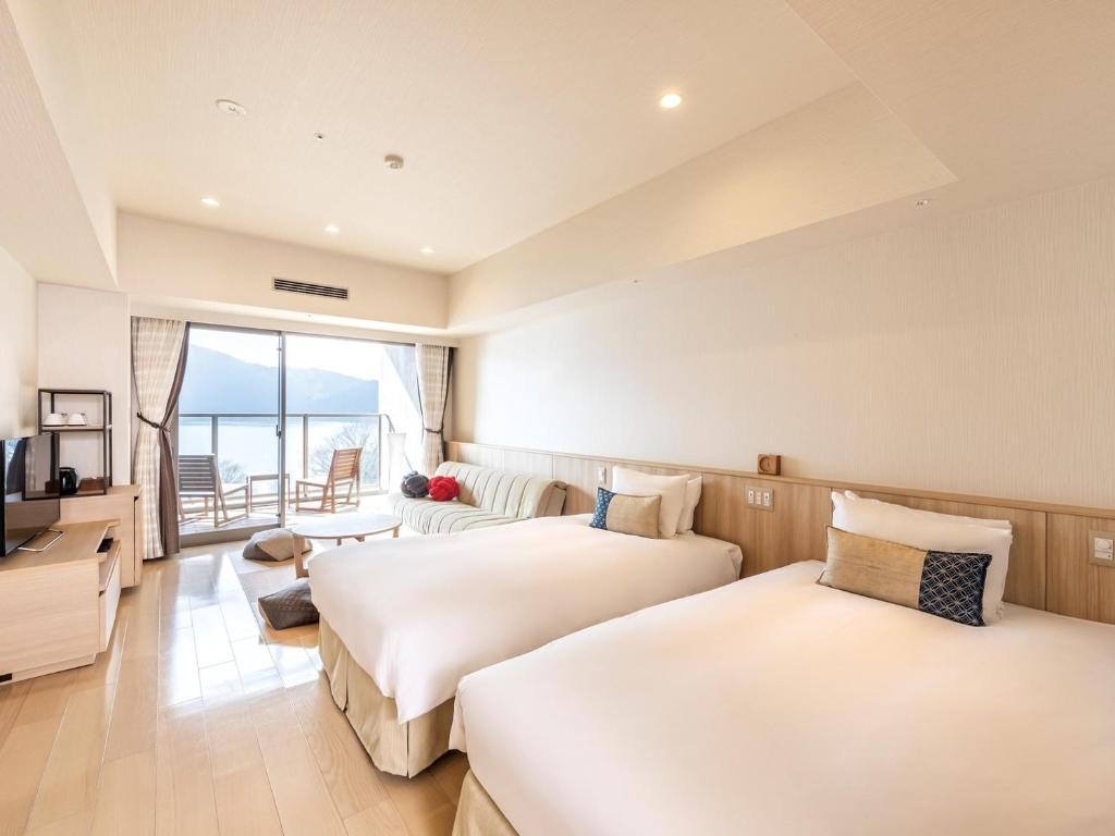 箱根溫泉花織飯店湖景標準和洋室