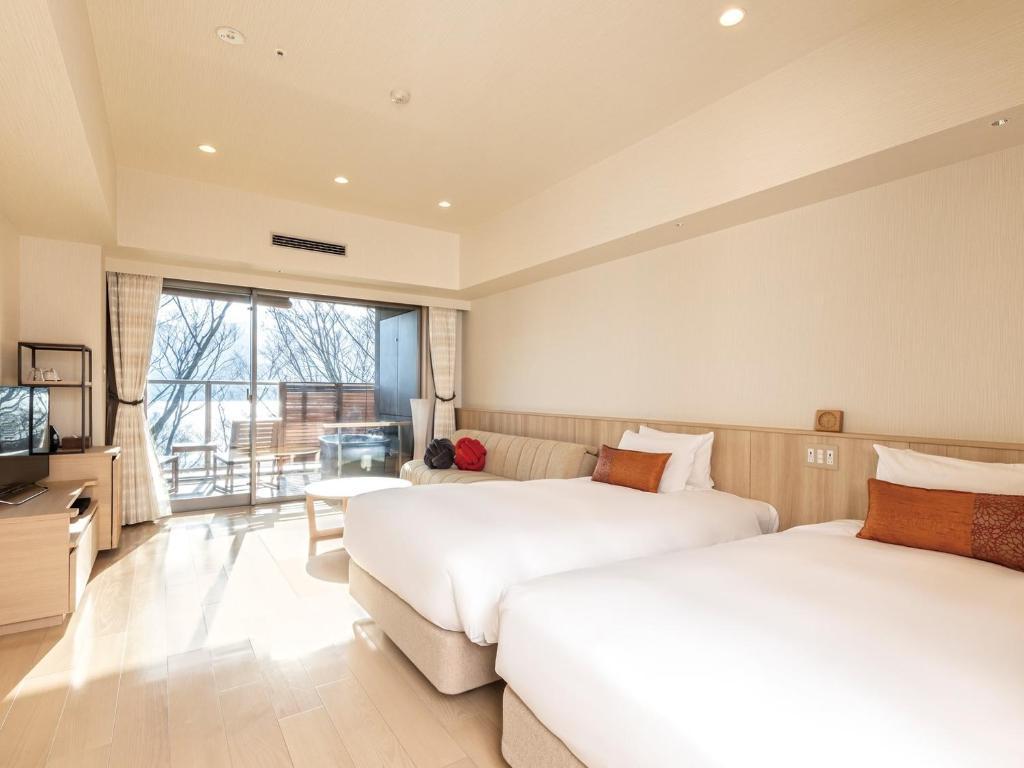 箱根溫泉花織飯店湖景標準和洋室附露天風呂