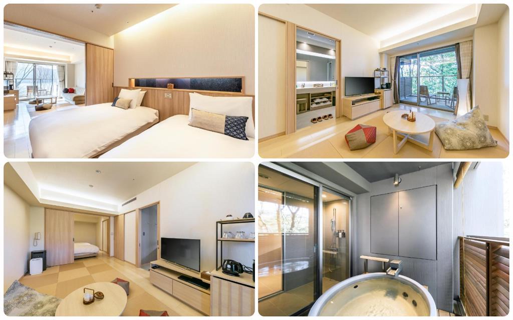 箱根溫泉花織飯店湖景高級和洋室附露天風呂